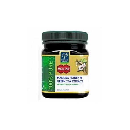 Miere Manuka MGO250+(UMF15+) cu Extract de ceai verde 250 g