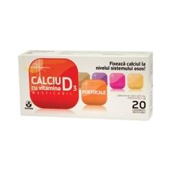 Calciu cu vitamina D3 portocale - Biofarm