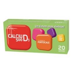 Calciu 500 mg cu vitamina D3 - Portocale