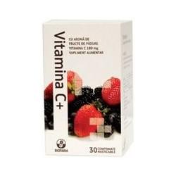 Vitamina C+ Fructe de Padure 20 cpr Bioland Biofarm