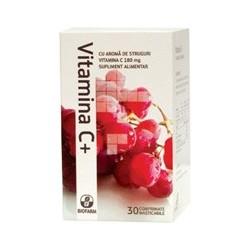 Vitamina C aroma de portocale 20 cpr - Biofarm