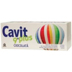 Cavit 9plus ciocolata - 20 tb -Biofarm